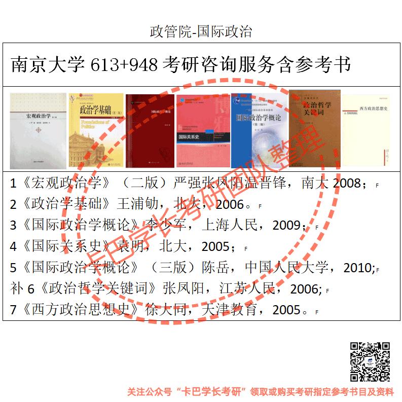 南京大学考研国际政治专业综合考研真题资料和答案